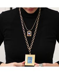 Lulu Frost - Metallic Filled Heart Necklace - Small - Lyst