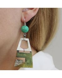 Lulu Frost - Green Vintage Moderne Journey Earrings - Lyst