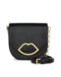 Lulu Guinness | Black Grainy Leather Small Amy | Lyst