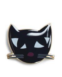 Lulu Guinness | Multicolor Kooky Cat Brooch | Lyst