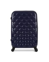 Lulu Guinness - Blue Midnight Sparkle Hardsided Lips Medium Spinner Case - Lyst