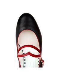 Lulu Guinness - Black Smooth Leather Eloise Pump - Lyst