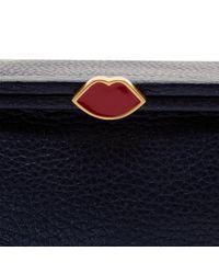 Lulu Guinness | Blue Midnight Sparkle Grainy Leather Small Julietta | Lyst