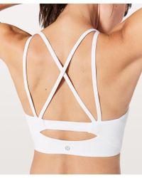 lululemon athletica - White Clip In Long Line Bra - Lyst