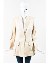 Versace - Natural Nwot Nude Dyed Single Button Tuxedo Jacket - Lyst