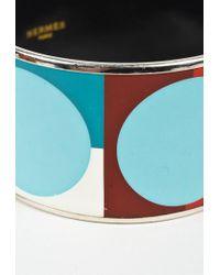 "Hermès - Multicolor Multi Palladium Coated Metal ""extra Wide Bangle"" Bracelet - Lyst"