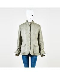 Loro Piana - Gray Cashmere Vest Lined Button Up Coat - Lyst
