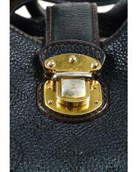 "Louis Vuitton - Black Monogram ""mahina"" Leather ""large Hobo"" Bag - Lyst"