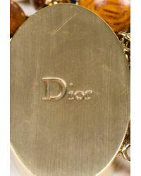 """Dior - Brown Wood Beaded """"mise En Dior"""" Bracelet - Lyst"""