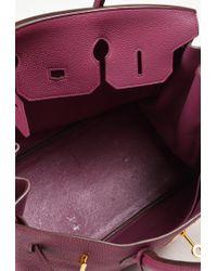 "Hermès - 1 ""tosca"" Purple ""togo"" Leather ""birkin 35"" Top Handle Bag - Lyst"