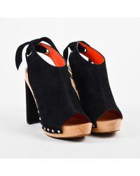 Proenza Schouler - Nwt Black Suede Studded Platform Slingback Sandals Sz 40 - Lyst