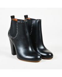 "Givenchy - Nib ""noir"" Black Leather Studded ""chelsea"" Ankle Boots - Lyst"