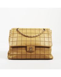 cf59bcde9dc2 Women's Natural Beige Quilted Calfskin Leather