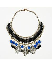 Barneys New York - Blue Multicolor Gold Crystal Resin & Metal Cheetah Collar Necklace - Lyst