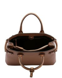 Burberry | Brown Medium Banner Leather & House Check Bag | Lyst