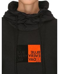 SJYP - Black Oversized Nylon Hood Sweatshirt Hoodie - Lyst