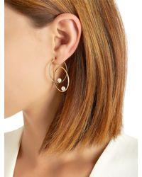 Anissa Kermiche - Metallic Double Rondeur Pearl Mono Earrings - Lyst