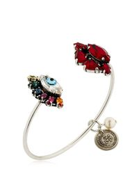 Anton Heunis | Metallic Eye & Lips Thin Cuff Bracelet | Lyst