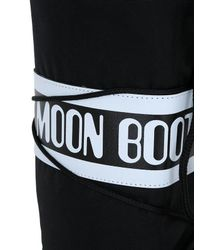 Moon Boot Nylon Men S Snow Boots In Black In Black For Men