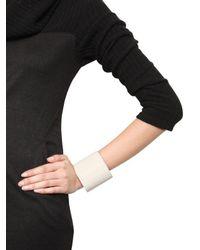 Ann Demeulemeester - White Leather Cuff Bracelet - Lyst