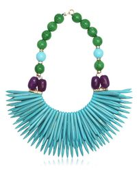 Katerina Psoma - Blue Nuwa Fringed Beaded Necklace - Lyst