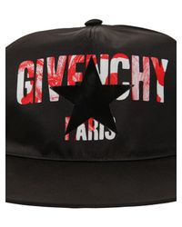 Givenchy - Black Iris Logo Print Nylon Baseball Hat for Men - Lyst