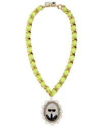 Bijoux De Famille - Metallic Karl Cameo Necklace - Lyst