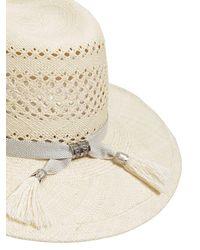 Maison Michel - Virginie Natural Straw Hat - Lyst