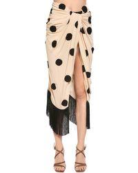 Jacquemus - Natural Polka Dot Embroidered Crepe Skirt - Lyst