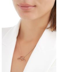 Ruifier   Pink Cupid Pendant Necklace With Diamonds   Lyst