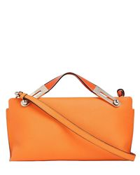 Loewe | Orange Small Missy Textured Leather Clutch | Lyst