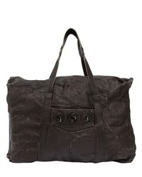 Giorgio Brato | Brown Waxed Canvas & Leather Weekender Bag for Men | Lyst