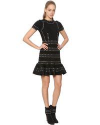 Alexander McQueen | Black Knit & Chenille Dress  | Lyst