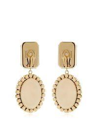 Bijoux De Famille - Metallic Karl Cameo Pendant Earrings - Lyst