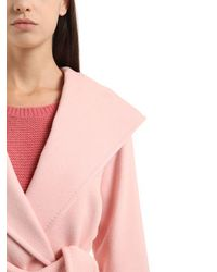 Max Mara - Pink Morfeo Hooded Drap Camel Trench Coat - Lyst