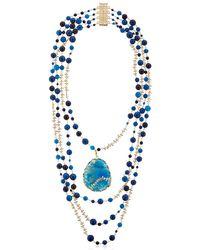 Rosantica | Amuleto Blue Quartz & Agate Necklace | Lyst