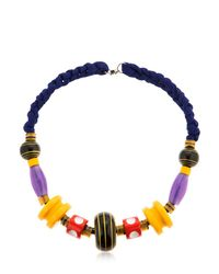 Missoni - Blue Graphic Modernist Resin Long Necklace - Lyst
