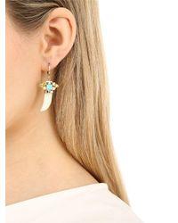 Iosselliani - Metallic Horn-shaped Jade Pendant Earrings - Lyst