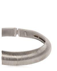 Saint Laurent - Metallic Serpent Oversize Brass Necklace - Lyst