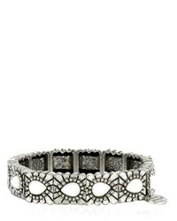 Philippe Audibert | Metallic Tanana Agate Stretch Bracelet | Lyst