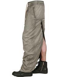 Rick Owens - Natural Doubled Stretch Poplin Skirt for Men - Lyst