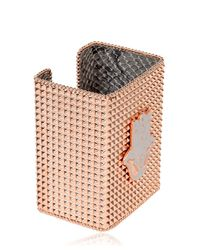Bisou Bijoux - Pink Big Square Cuff Bracelet - Lyst
