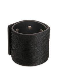 Rick Owens   Black 6cm Ponyskin 6 Pin Bracelet for Men   Lyst