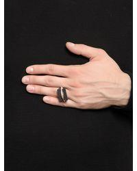 Henson - Metallic Blade Ring Set for Men - Lyst