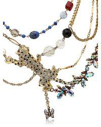 Maria Zureta - Multicolor Animal Leopard Necklace - Lyst