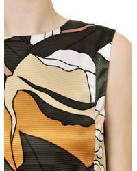Marni Multicolor Printed Silk Cotton Ottoman