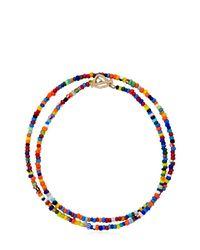 Luis Morais - Multicolor Gold Skull Closure Beaded Bracelet - Lyst