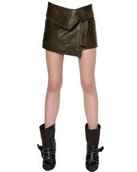 Isabel Marant | Metallic Nappa Leather Mini Skirt | Lyst