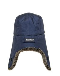 Woolrich - Blue Ramar Shearling Lining Trapper Hat for Men - Lyst