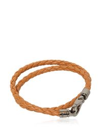 "Tod's - Brown ""my Colors"" Braided Leather Bracelet for Men - Lyst"